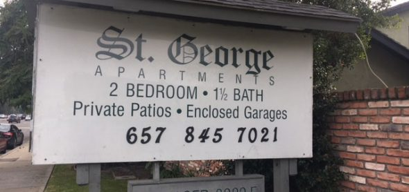 St George Apartments Sign